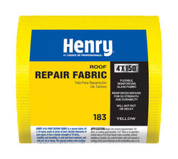 Henry  Smooth  Yellow  Water Based  Roofing Fabric  4 in. x 150 ft.