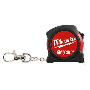 Milwaukee  6 ft. L x 1.2 in. W Pocket  Keychain Tape Measure  Red  1 pk