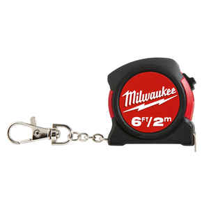 Milwaukee  6 ft. L x 1.2 in. W Pocket  1 pk Red  Keychain Tape Measure