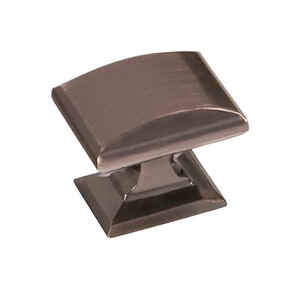 Amerock  Candler Collection  Rectangle  Cabinet Knob  1/1/4 in. Dia. 1-1/8 in. Gunmetal  1 pk