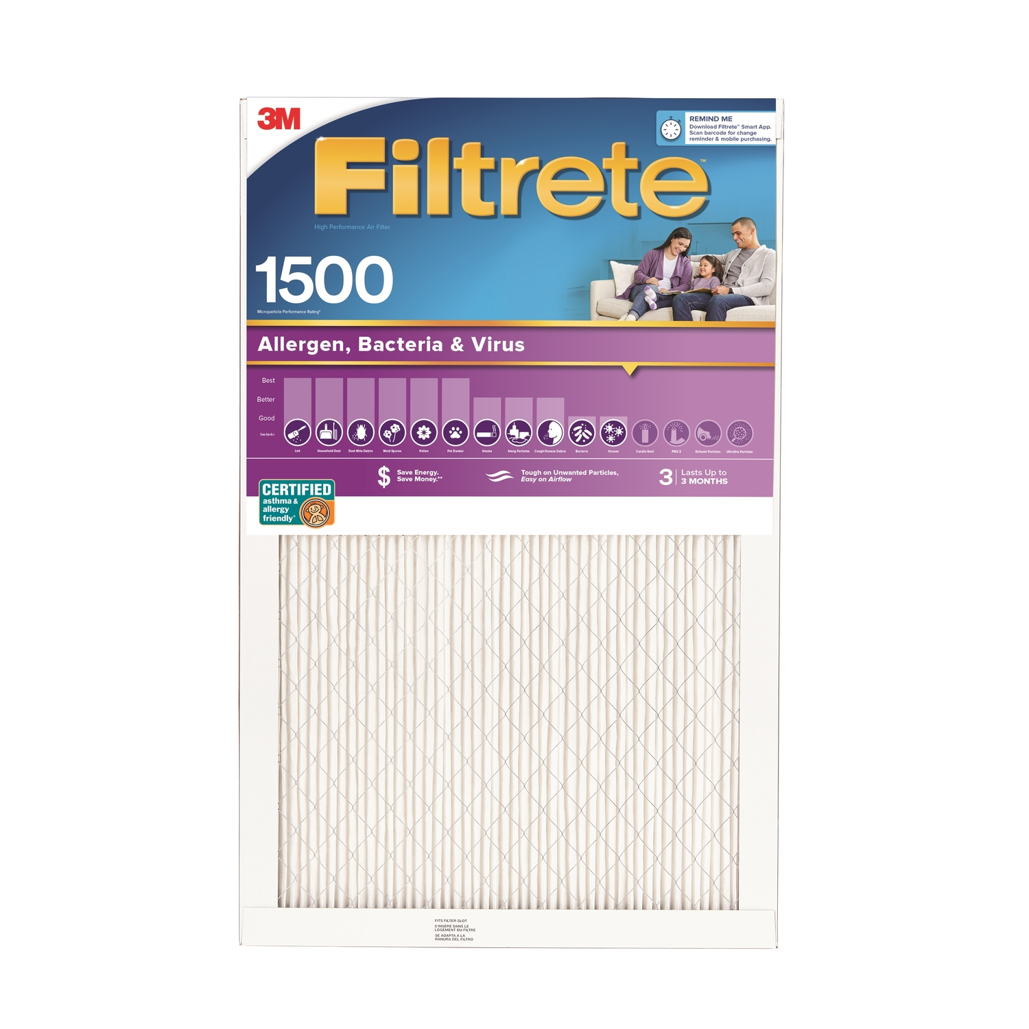 3M  Filtrete  36 in. H x 12 in. W x 1 in. D Air Filter