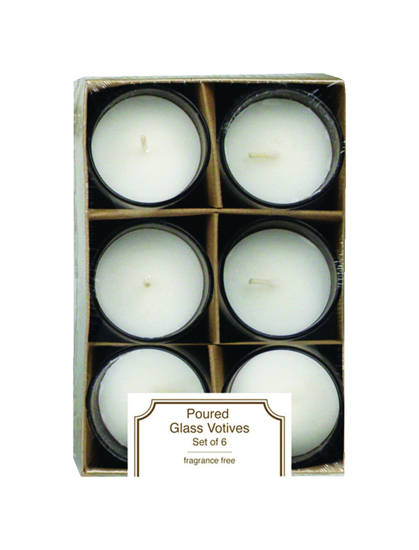 Langley Empire  No Scent Scent White  Accent  Candle  6.25 in. H x 4.25 in. Dia.