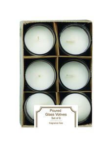 Langley Empire  No Scent White  Accent  Candle  6.5 in. H x 4.25 in. Dia.