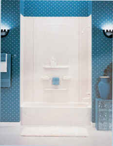 ASB  Enhance  78  H x 63 in. W x 31-1/2 in. L White  Bathtub and Surround