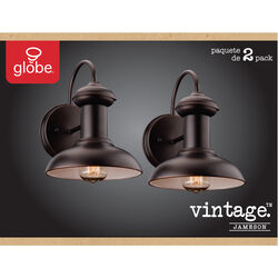 Globe Electric  Jameson  1-Light  Oil Rubbed Bronze  Vintage  Wall Sconce