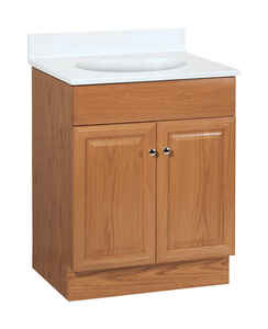 Continental Cabinets  Single  Oak  Oak  Vanity Combo  24 in. W x 18 in. D x 32 in. H