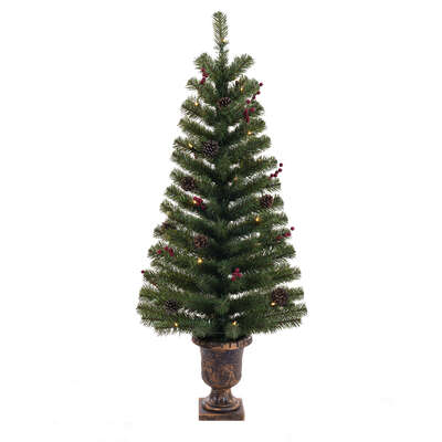 Celebrations  4-5 ft. Northern Pine  Prelit 35 count Potted Christmas Trees