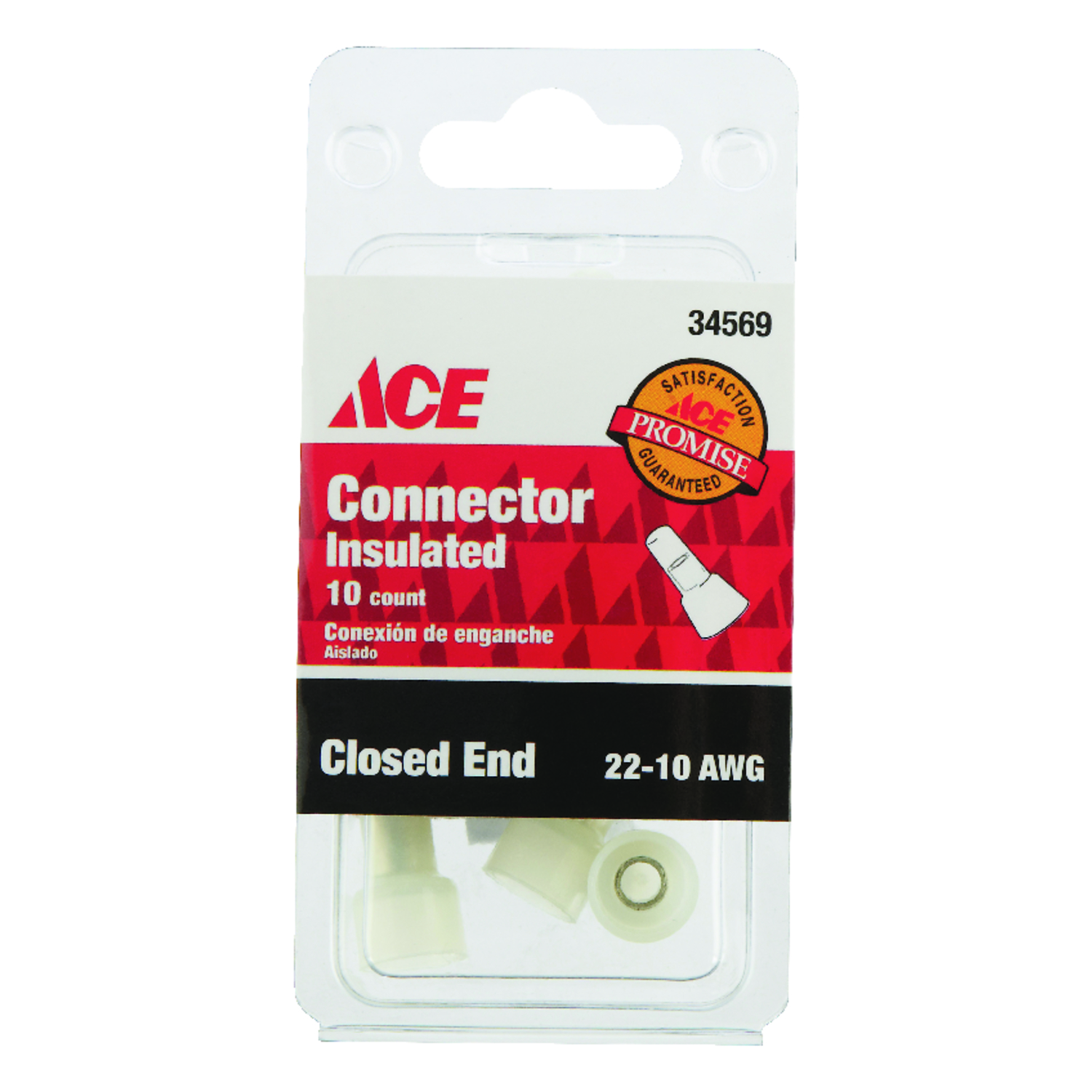 Ace  22-10 AWG Closed End Connector  10  Insulated Wire