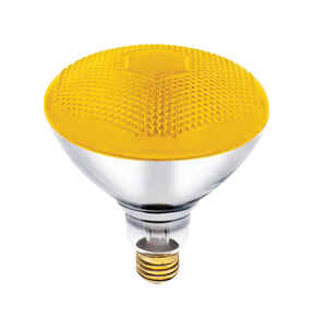 Westinghouse  Bug Light  100 watts E26  Incandescent Bulb  Yellow  Floodlight  1 pk