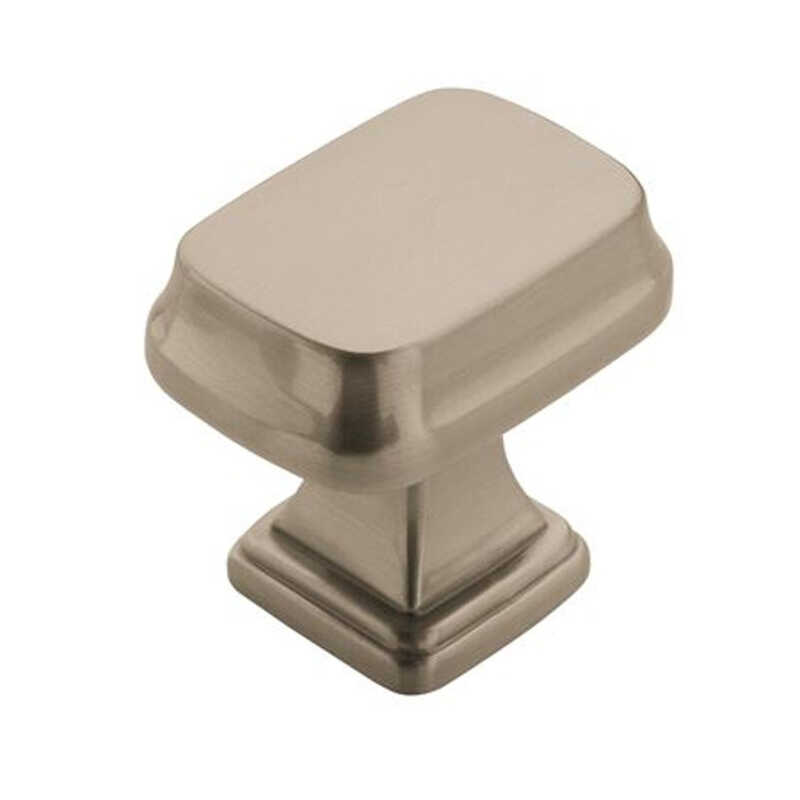 Amerock  Grace Revitalize Collection  Round  Cabinet Knob  1-1/8 in. Dia. 1-1/8 in. Satin Nickel  1