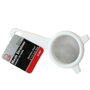 Chef Craft  2-1/2 in. W x 5-1/2 in. L Silver/White  Mesh Strainer w/Handle