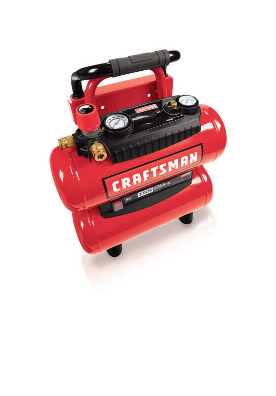 Craftsman  Twin Tank  Portable 4 gal. 155 psi 1.1 hp Air Compressor