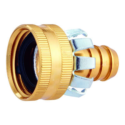 Ace  1/2 in. Metal  Threaded  Female  Clinch Hose Mender Clamp