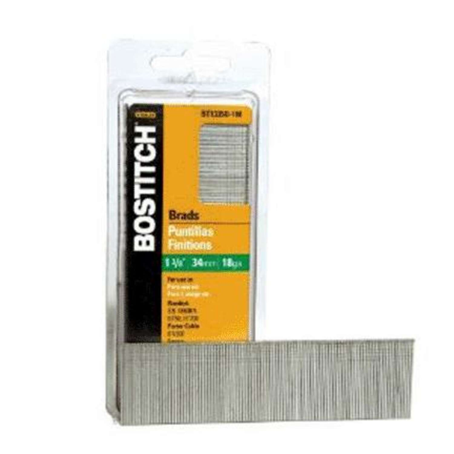 Bostitch  18 Ga.  x 1-3/8 in. L Galvanized  Steel  Brad Nails  1000 pk