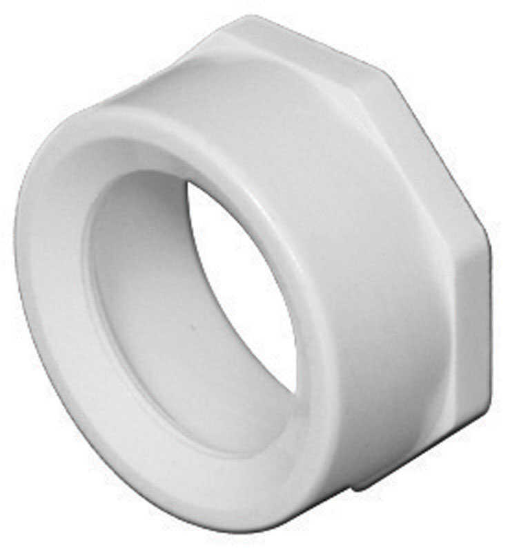 Charlotte Pipe  Schedule 40  4 in. Spigot   x 3 in. Dia. Hub  PVC  Flush Bushing