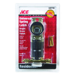 Ace  Bright Brass  Steel  Spring Latch  1 pk