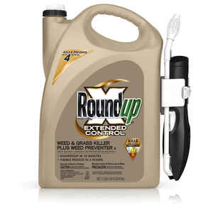 Roundup  Extended Control  Weed and Grass Killer  RTU Liquid  1.1 gal.