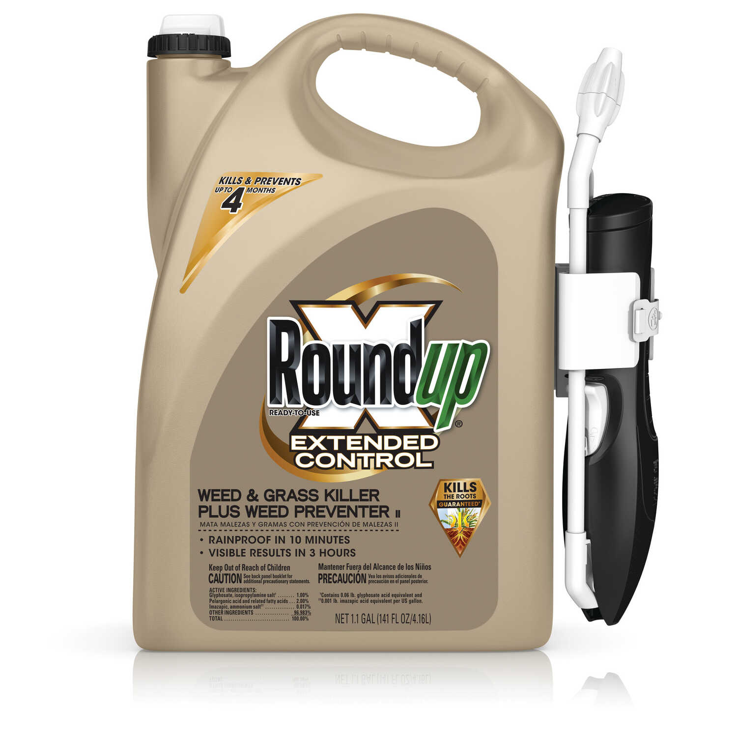 Roundup  Extended Control  RTU Liquid  Weed and Grass Killer  1.1 gal.