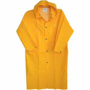 Boss  PVC-Coated Rayon  Yellow  Rain Jacket