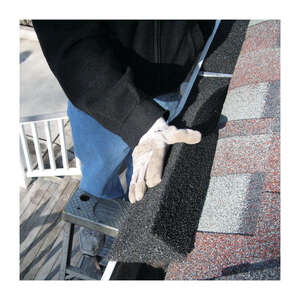GutterStuff  5 in. W x 4 ft. L Black  Gutter Guard  Polyester Foam