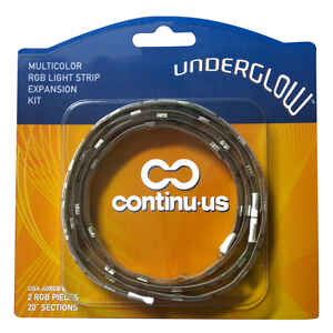 Continu-us  Underglow  40 in. L Multicolored  LED  Tape Light  2 pk Plug-In