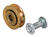 Prime-Line  1 in. Dia. x 5/16 in. L Mill  Steel  Roller Assembly  2 pk