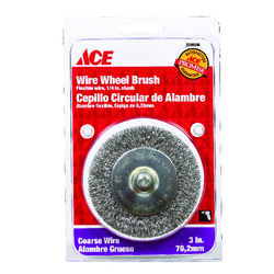 Ace  3 in. Crimped  Wire Wheel Brush  Steel  4500 rpm 1 pc.