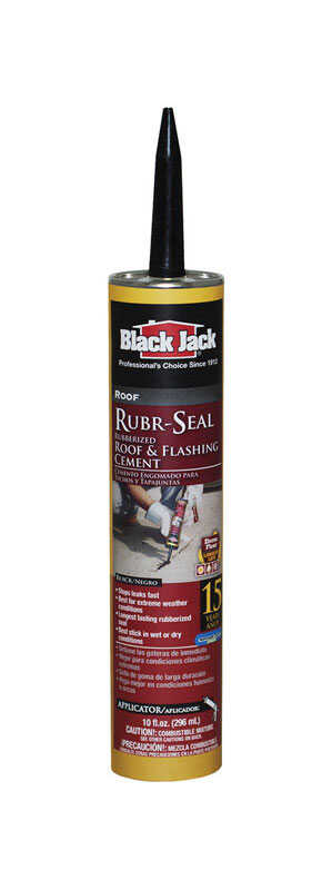 Black Jack  Rubr-Seal  Gloss  Black  Rubber  Roof & Flashing Cement  10.1 oz.