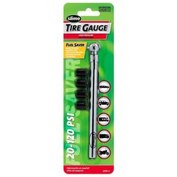 Slime 20 psi 120 psi Pencil Tire Pressure Gauge