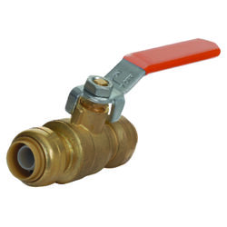 SharkBite  1/2 in. Brass  Push-Fit  Ball Valve