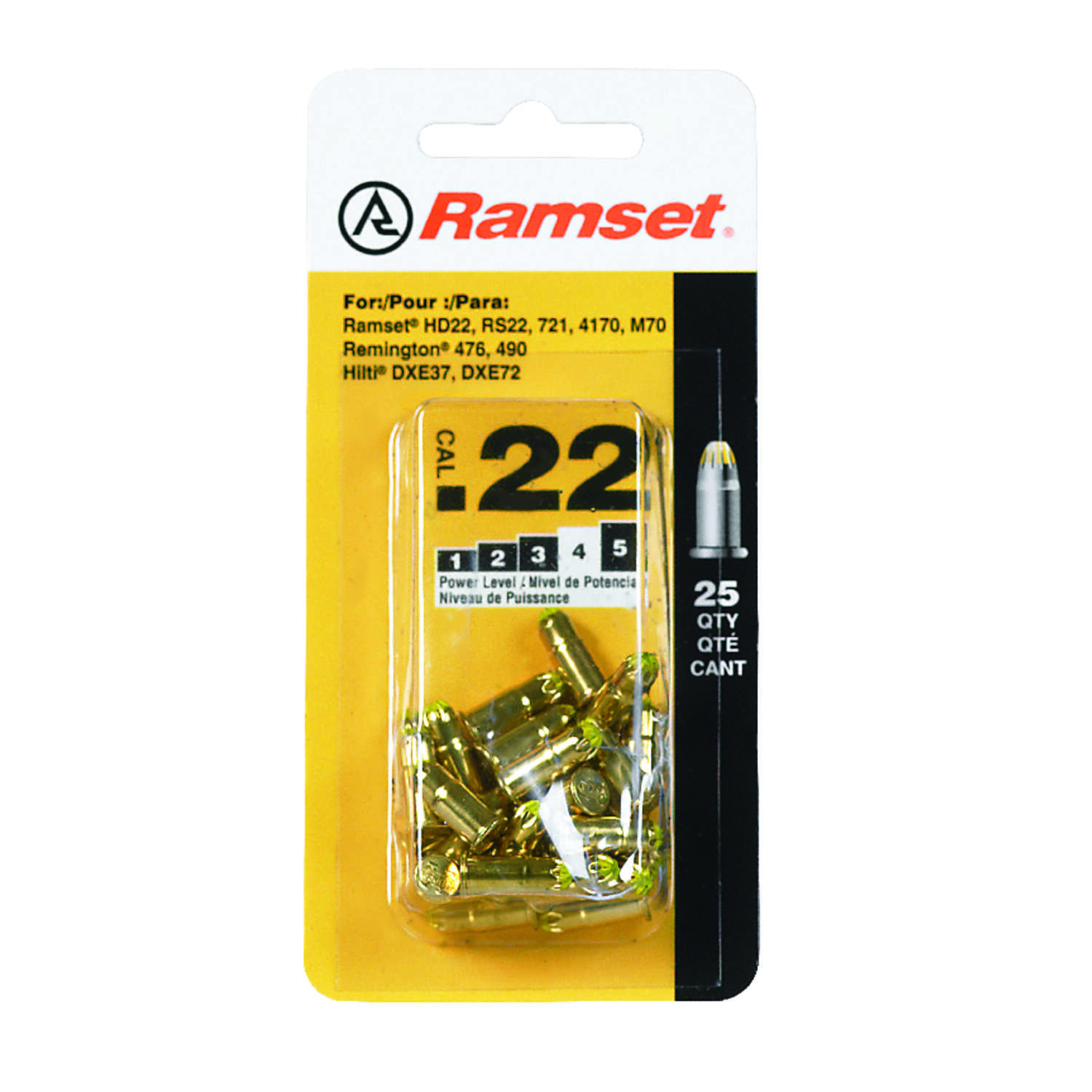Ramset  .22 in. Dia. x .25 in. L Steel  Flat Head Anchor Bolts  25 pk