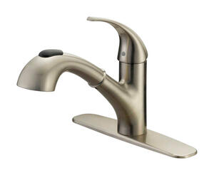 OakBrook  Pacifica  Pull-Out  One Handle  Brushed Nickel  Kitchen Faucet