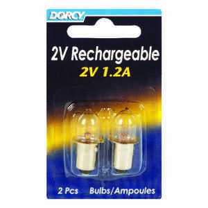 Dorcy  2V  Flashlight Bulb  2 volt Bayonet Base