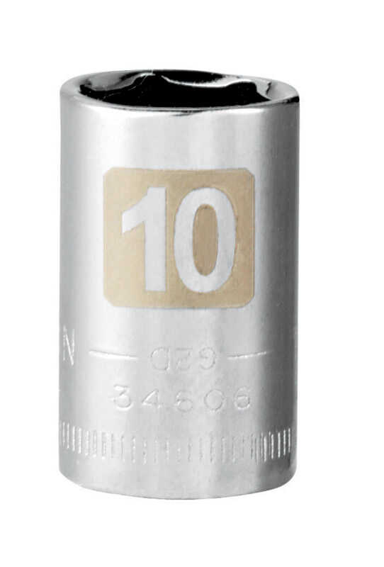 Craftsman  10 mm  x 1/4 in. drive  Metric  6 Point Standard  Socket  1 pc.