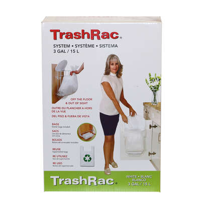 Sunbeam TrashRac 3 gal. Plastic Trash Rack