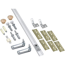 National Hardware White Steel Folding Door Hardware Set 1 pk