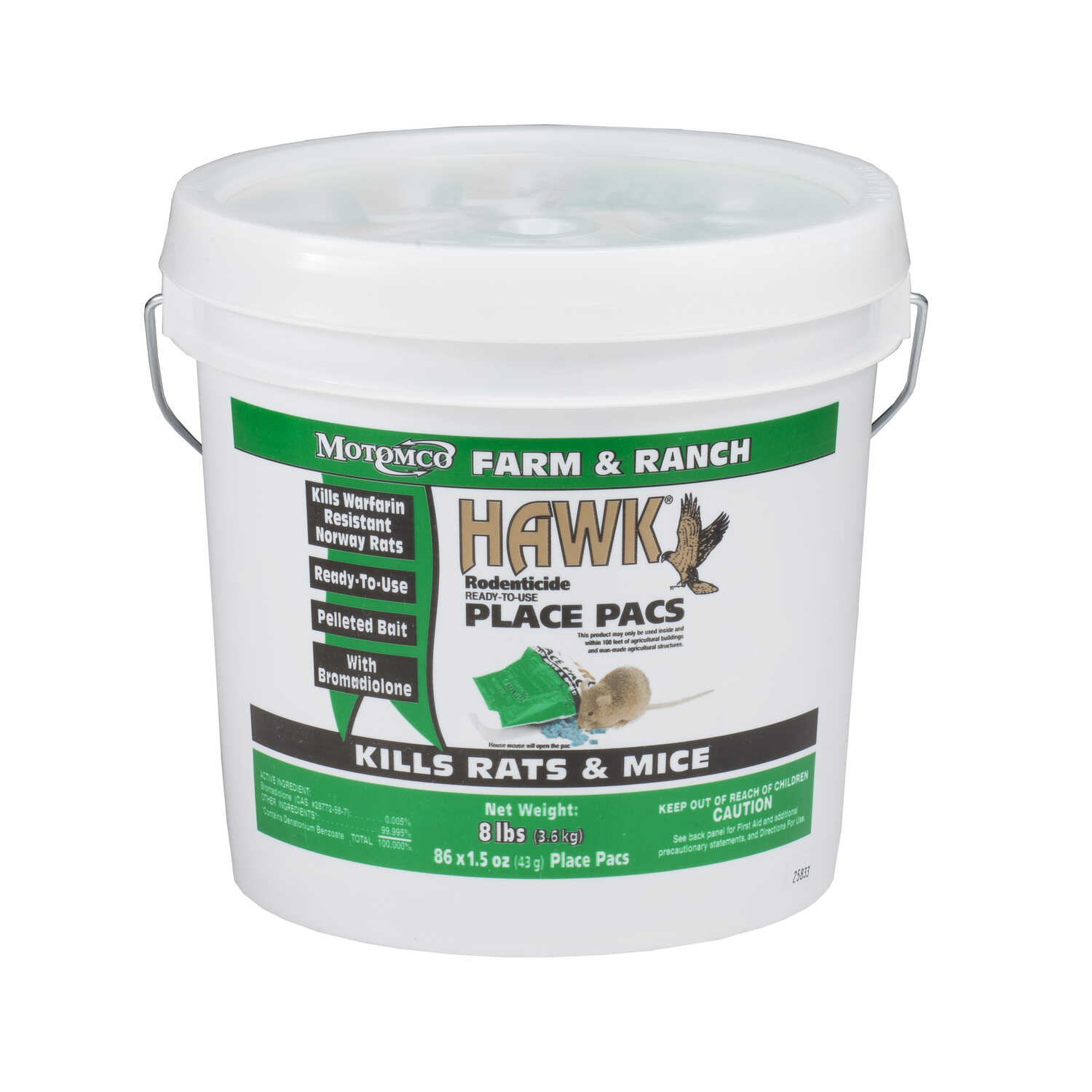 Motomco  Hawk  For Mice/Rats Pest Control  8