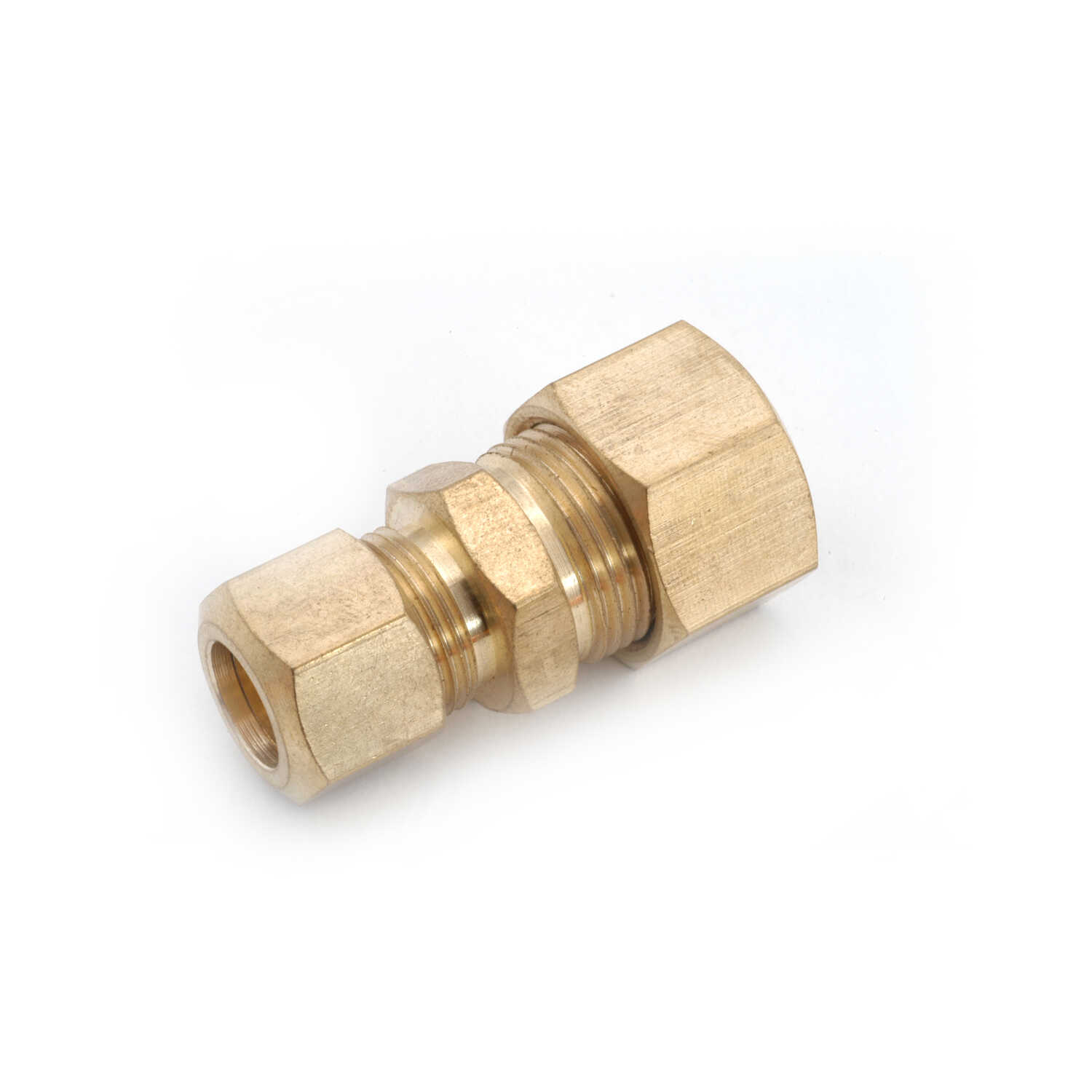 Anderson Metals Corporations  1/2 in. Compression   x 3/8 in. Dia. Compression  Brass  Reducing Unio