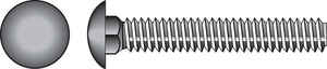 Hillman  5/16 in. Dia. x 5 in. L Zinc-Plated  Steel  Carriage Bolt  50 pk