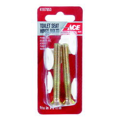 Ace  Toilet Seat Hinge Bolts  Plated  Brass