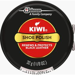 Kiwi  Black  Shoe Polish  1-1/8 oz.