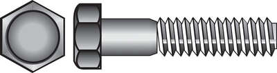 Hillman  5/8 in. Dia. x 1-1/2 in. L Zinc Plated  Steel  Hex Bolt  25 pk