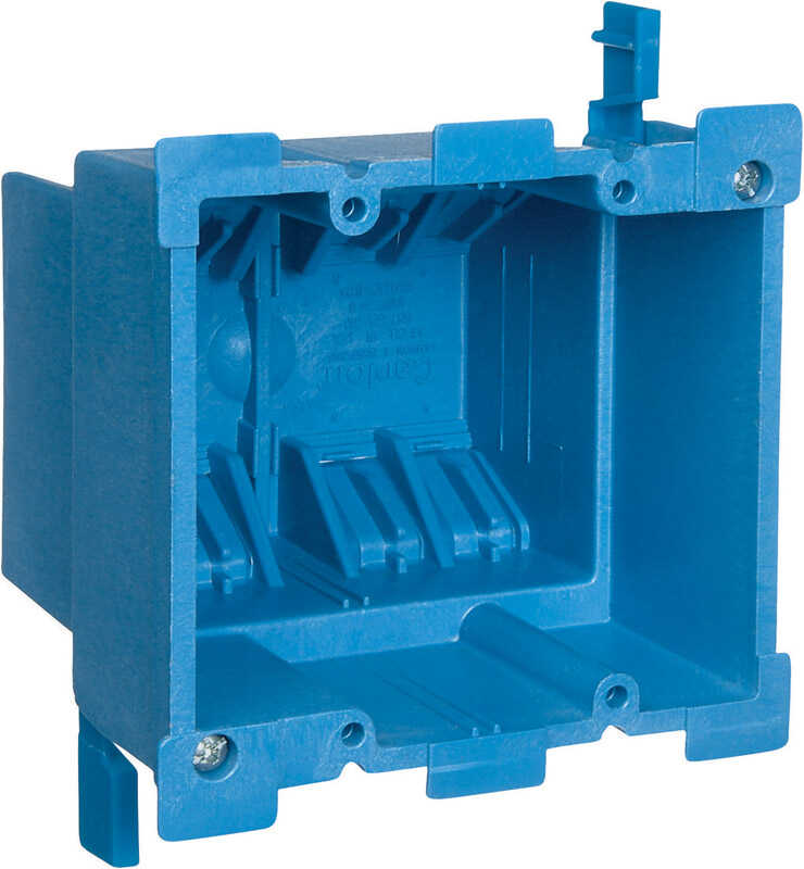 Carlon  3-7/8 in. Rectangle  Thermoplastic  2 gang Outlet Box  Blue