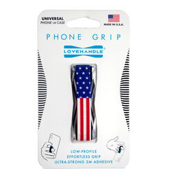 LoveHandle  Blue/Red/White  USA Flag  Phone Grip  For All Mobile Devices