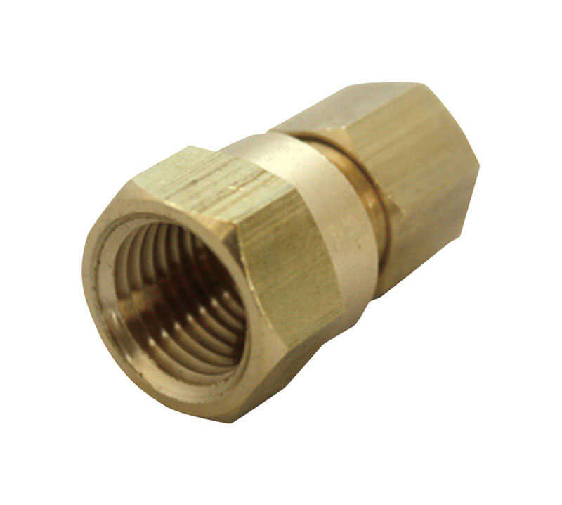 JMF  1/4 in. Compression   x 3/8 in. Dia. FPT  Brass  Compression Adapter