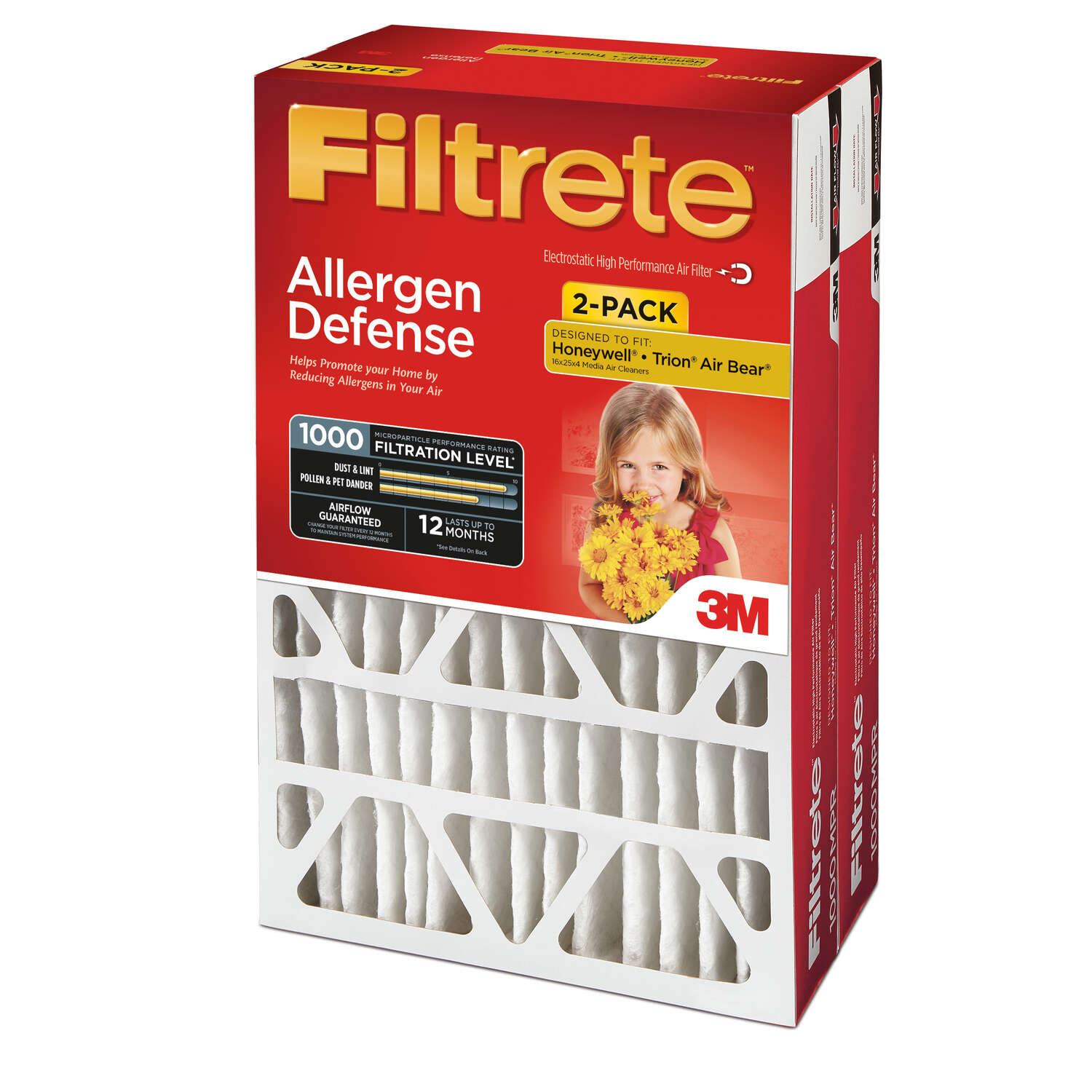 3M  Filtrete  25 in. H x 16 in. W x 4 in. D Air Filter