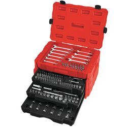 Craftsman 1/4, 3/8 and 1/2 in. drive Metric and SAE 12 Point Mechanic's Tool Set 268 pc.