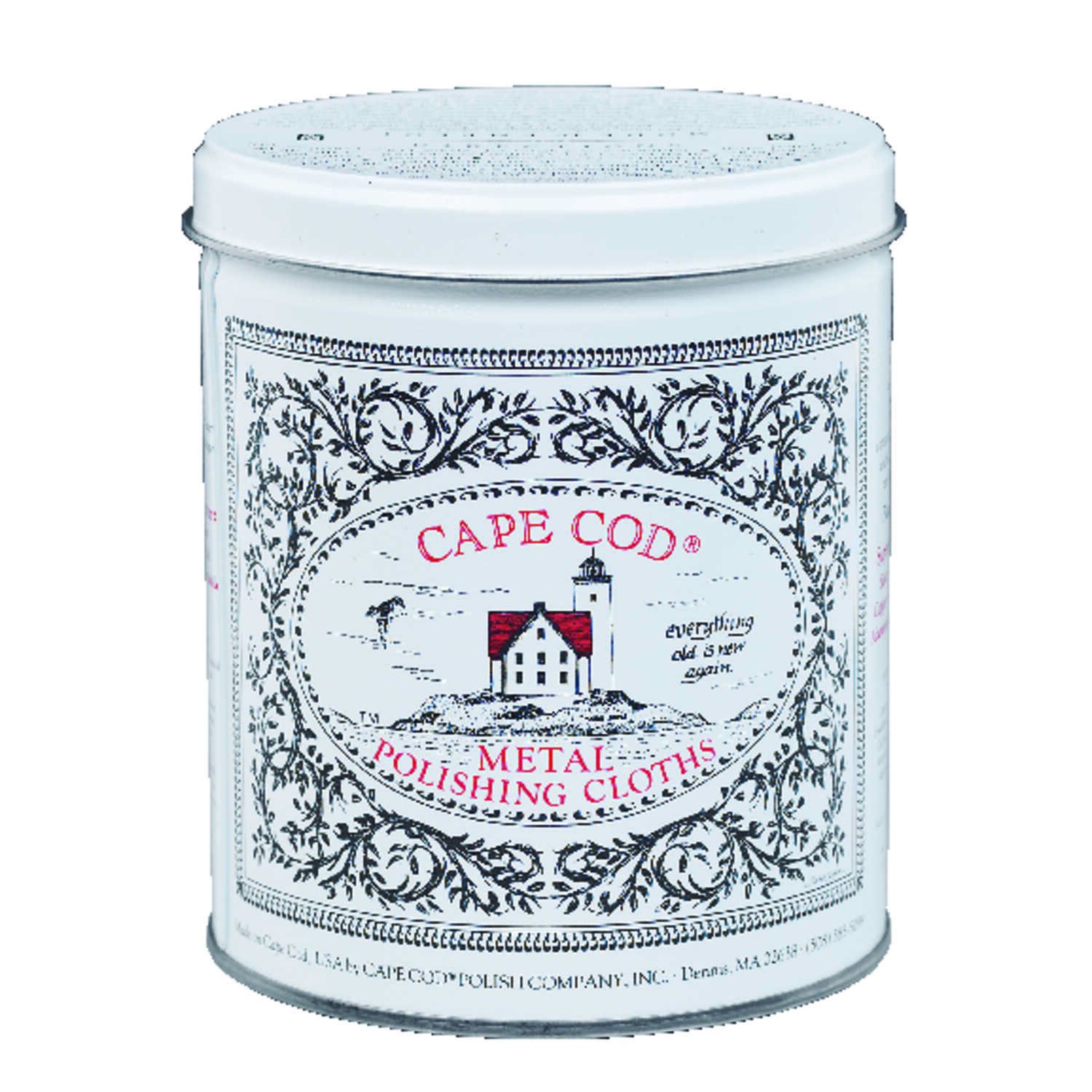 Cape Cod  Vanilla Scent Metal Polish  12  Cloth