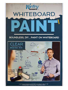 Writey Board  Hi-Gloss  Whiteboard Paint  17 oz. Clear