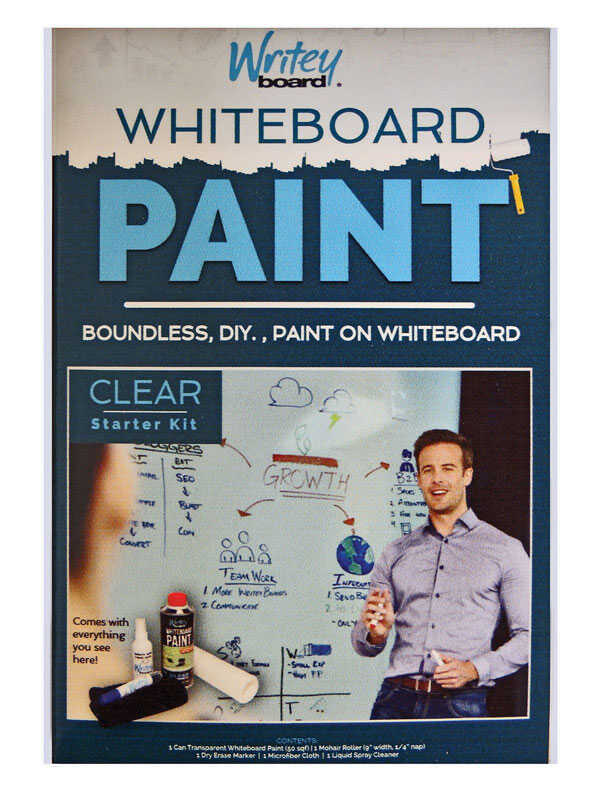 Writey Board  Hi-Gloss  Clear  Whiteboard Paint  17 oz.